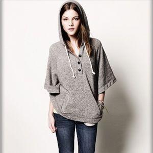 AEO grey poncho sweatshirt sz M